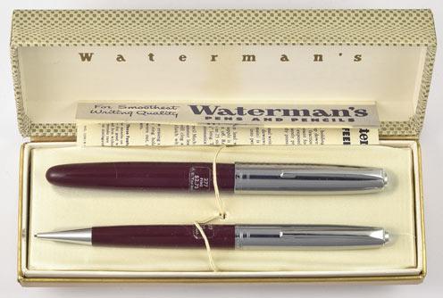 Waterman Burgundy Crusader Pencil w15702 Waterman Fountain Pen Company Rare