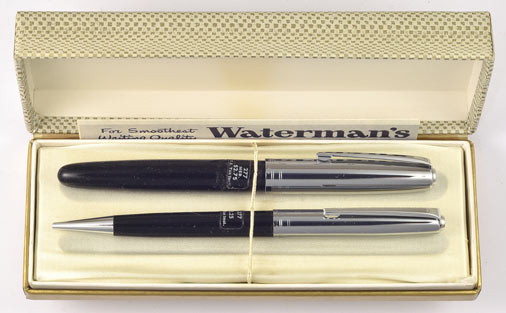 WATERMAN MECHANICAL PENCIL Stainless Steel Chrome Trim NEW OLD STOCK