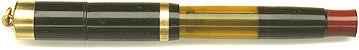 Dunn pen with two-piece cap